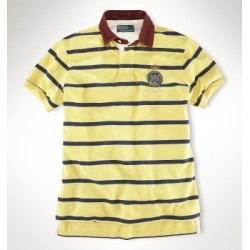 9de68d3cf04e9 Camisa Polo Amarela Listrada Stripe Ralph Lauren - Cod 0054